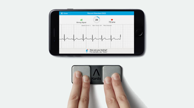 The AliveCor Kardia Mobile heart monitor